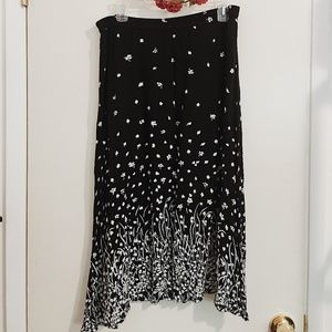 Cathy Daniels vintage black & white floral skirt